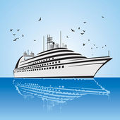 Very realistic view of Cruise Ship, — Stock Vector