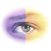 Abstract halftone eye — Stock Vector