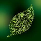 Green eco-friendly concept — Stock Vector