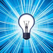 Light bulb idea — Stock Vector