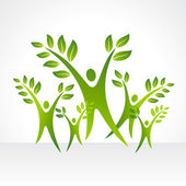 Save earth idea — Stock Vector