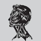 Human head thinking. — Stock Vector