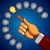 Colorful bright incandescent light bulb — Stock Vector