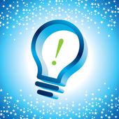 Three dimensional bulb idea — Stock Vector