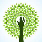 Save green — Stock Vector