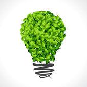 Green idea for earth — Stock Vector