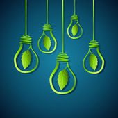 Green idea — Stock Vector