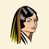 这位印度女士 — 图库矢量图片