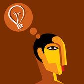 Idee, die Gedanken eines Mannes — Stockvektor