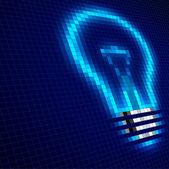 Digital bulb — Stock Vector