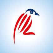 Creative bird — Stock Vector
