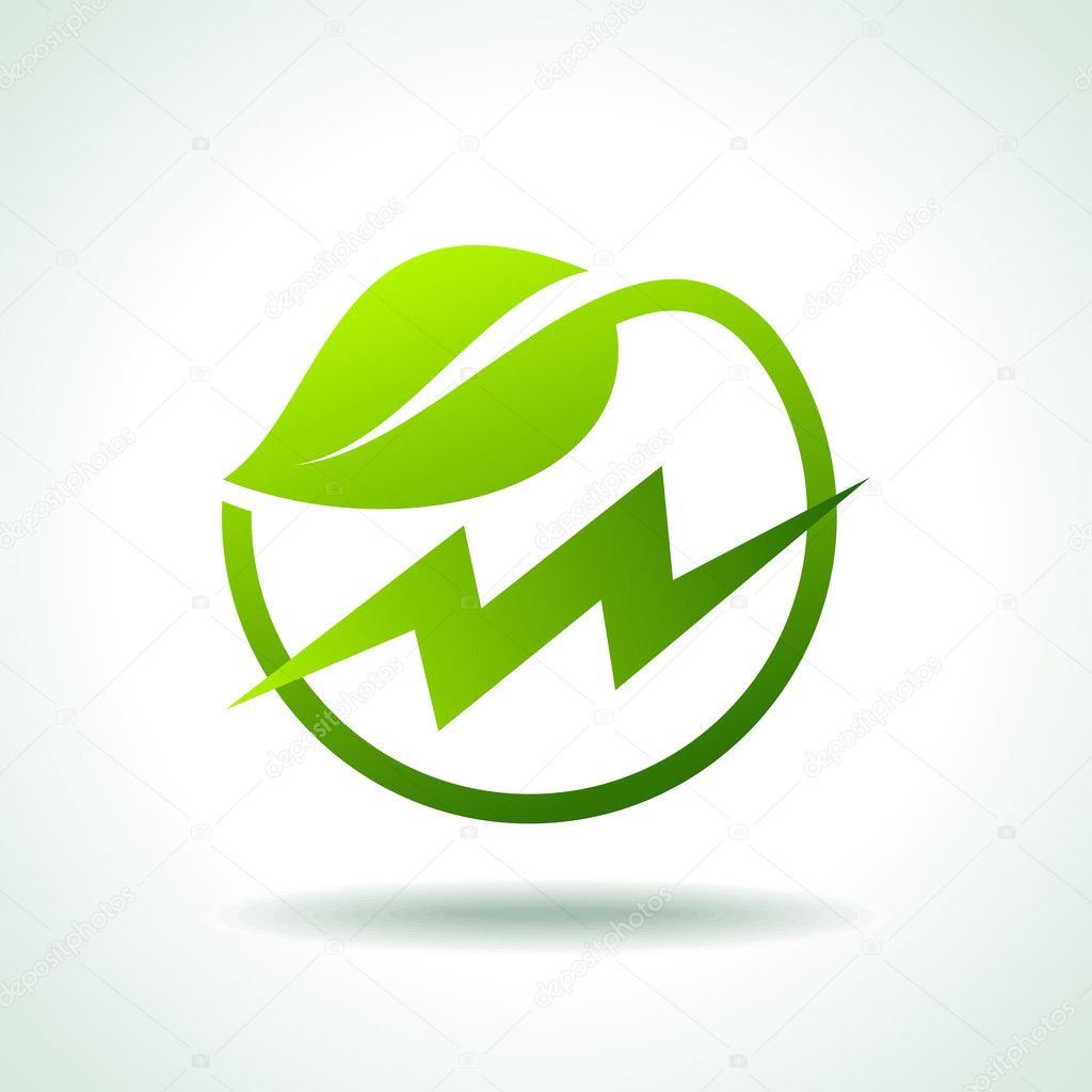 Green energy electricity icon — Stock Vector © arrtfoto #39621873