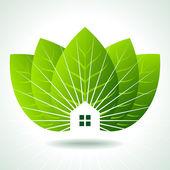 Bio zelený domy — Stock vektor