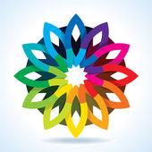 Kolor koło kwiat — Wektor stockowy