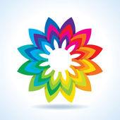 Color flower wheel — Stock Vector