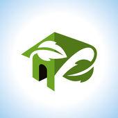 Bio green house icon — Stock Vector