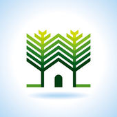 BIO GREEN HOUSES — Cтоковый вектор