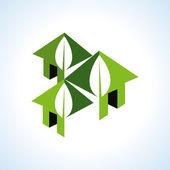 Bio green houses icon — Vector de stock