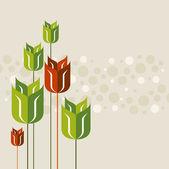 Springtime poppy — Stock Vector