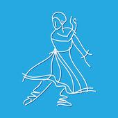 Dancing ballerina — Stock Vector
