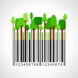 Bar-code with forest — Stock Vector #39696915