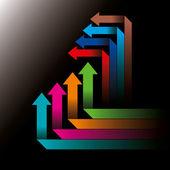Global business arrows — Stock Vector
