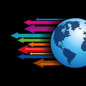 Strzałki światowego biznesu — Wektor stockowy