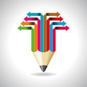 Pfeile mit Bleistift — Wektor stockowy