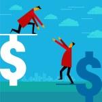 Helping businessman idea — Stock Vector #39709717