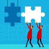Fitting idea to idea — Stock Vector
