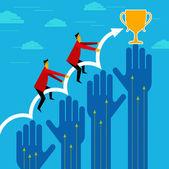 Businessman winner — Stock Vector