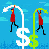 High risk for money — Stock Vector