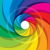 Rainbow swirl background — Stock Vector