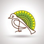 Decorate bird — Stock Vector