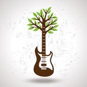 Musical tree — Stock Vector