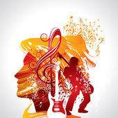 Abstract musical background for music event design — Stock Vector