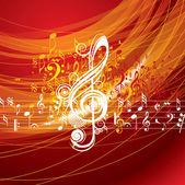 Hudební pozadí — Stock vektor