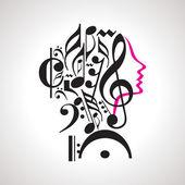 Music head — Stock vektor