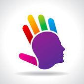 Thinking a new idea — Stockvector