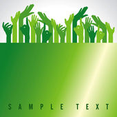Green up hands — Stock Vector