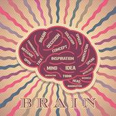 Brain idea — Stock Vector