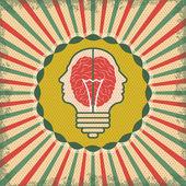 Brain idea for business — Stock Vector