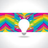 Bulb idea — Stock vektor