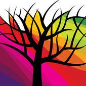 Vector abstracto árbol — Vector de stock