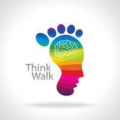 Think walk concept — Stock Vector
