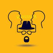 Ideas exchange — Stock Vector