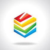 Design hexagonal vector logo template — Stock Vector