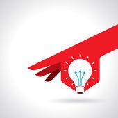 Reach idea with human hand — Stock Vector
