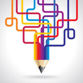 Creative pencil idea — Vettoriale Stock