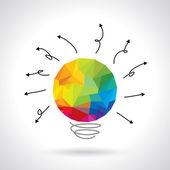 Concept idea bulb — Stock Vector
